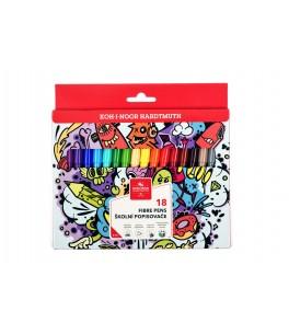 Kleurstiften teenage, driekantig, 18 kleuren
