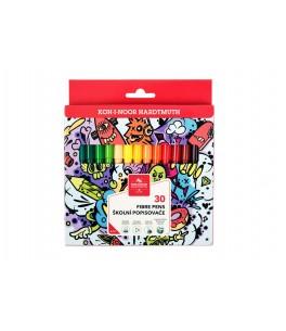Kleurstiften teenage, driekantig, 30 kleuren