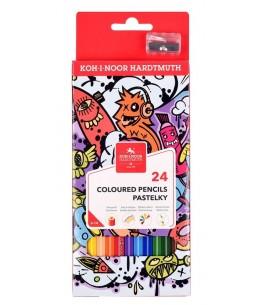 Kleurpotloden teenage, 24 kleuren