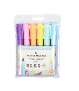 Set of 6 pastel markers 2406
